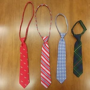 Four Youth Clip On Ties